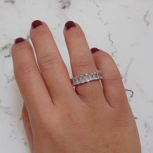 Emerald Cut Full Eternity Band Ring